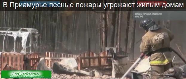 Пожар угрожает жителям Приамурья и их домам