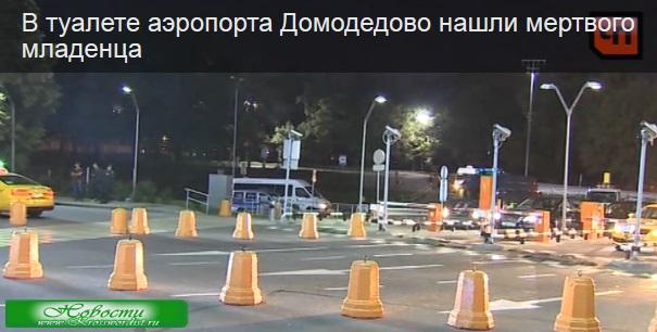 Аэропорт Домодедово: В туалете нашли мертвого младенца