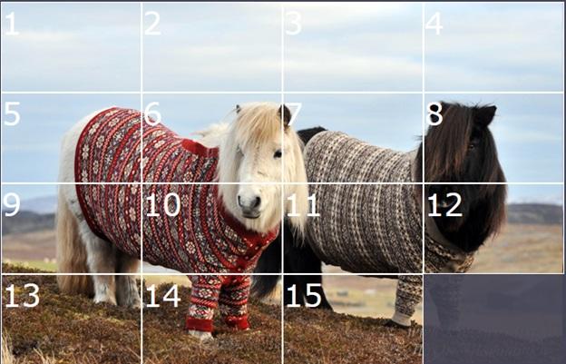 Пазлы «Пятнашки»- Шетландские пони