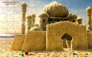 Песочный замок-пазлы онлайн